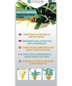 Pièges collants anti moucherons des plantes et des fruits